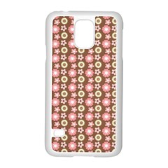 Cute Floral Pattern Samsung Galaxy S5 Case (White)