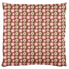 Cute Floral Pattern Standard Flano Cushion Case (Two Sides)