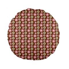 Cute Floral Pattern 15  Premium Flano Round Cushion