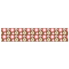Cute Floral Pattern Flano Scarf (Small)