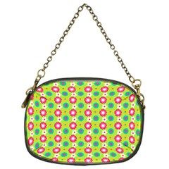 Cute Floral Pattern Chain Purse (one Side)