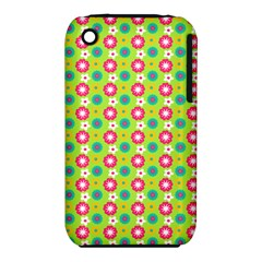 Cute Floral Pattern Apple iPhone 3G/3GS Hardshell Case (PC+Silicone)