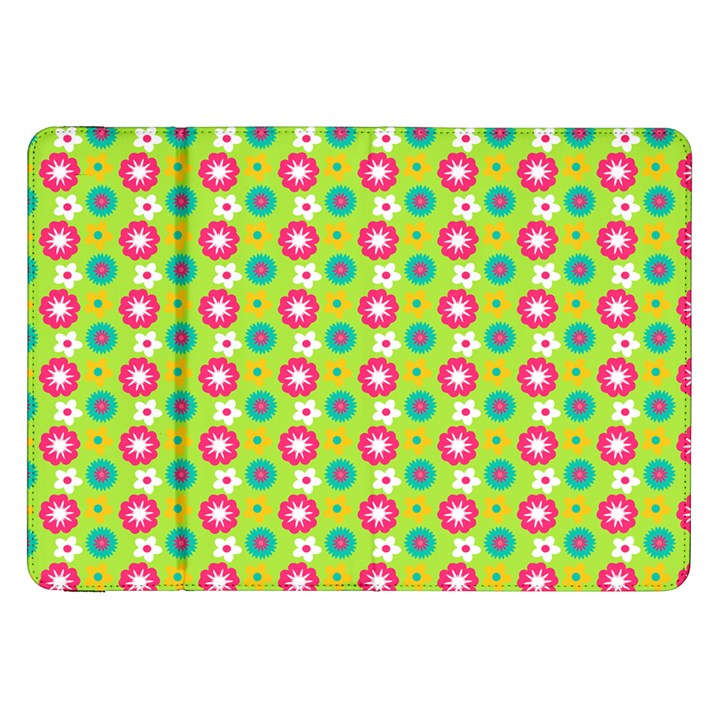 Cute Floral Pattern Samsung Galaxy Tab 8.9  P7300 Flip Case