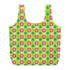 Cute Floral Pattern Reusable Bag (l)