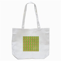 Cute Floral Pattern Tote Bag (White)