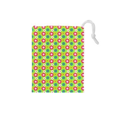 Cute Floral Pattern Drawstring Pouch (Small)