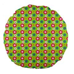 Cute Floral Pattern 18  Premium Flano Round Cushion
