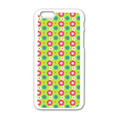 Cute Floral Pattern Apple iPhone 6 White Enamel Case