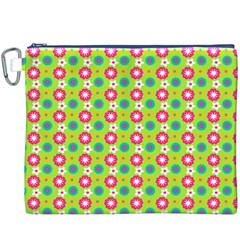 Cute Floral Pattern Canvas Cosmetic Bag (xxxl)