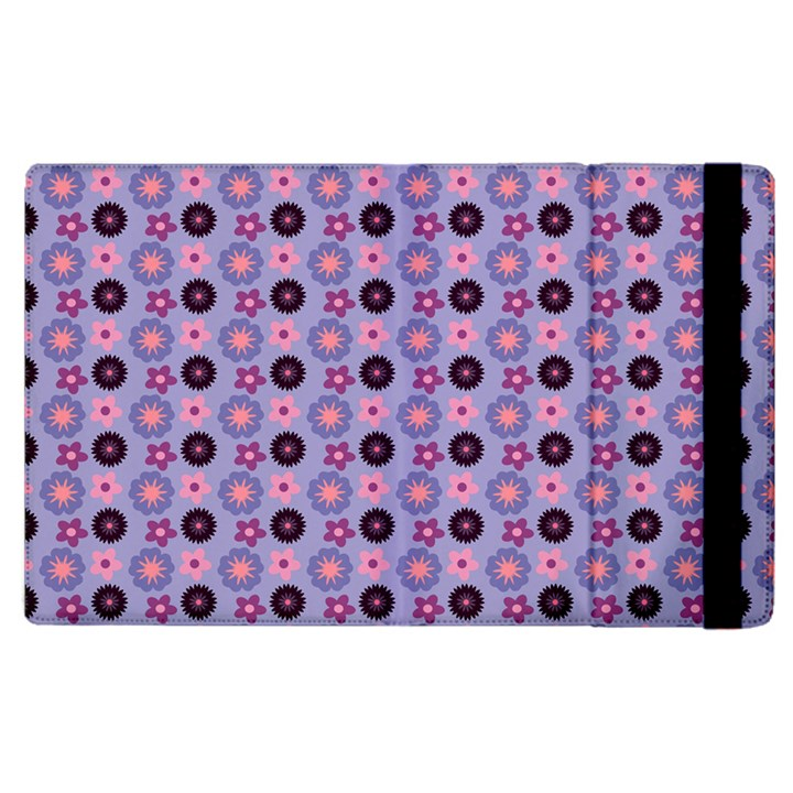 Cute Floral Pattern Apple iPad 2 Flip Case