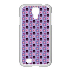 Cute Floral Pattern Samsung Galaxy S4 I9500/ I9505 Case (white)