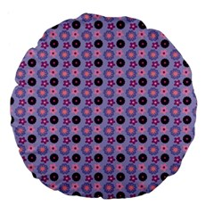 Cute Floral Pattern 18  Premium Flano Round Cushion