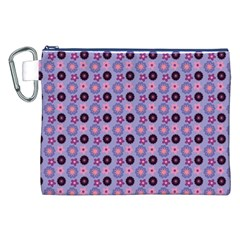 Cute Floral Pattern Canvas Cosmetic Bag (XXL)