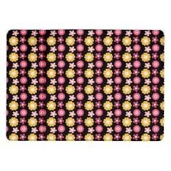 Cute Floral Pattern Samsung Galaxy Tab 10.1  P7500 Flip Case