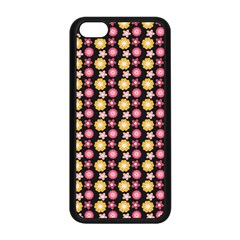 Cute Floral Pattern Apple Iphone 5c Seamless Case (black)