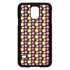 Cute Floral Pattern Samsung Galaxy S5 Case (Black)