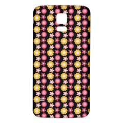 Cute Floral Pattern Samsung Galaxy S5 Back Case (White)