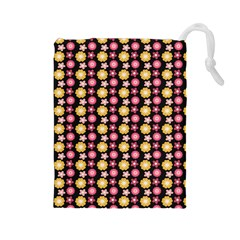 Cute Floral Pattern Drawstring Pouch (Large)