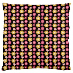 Cute Floral Pattern Large Flano Cushion Case (One Side)