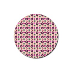 Cute Floral Pattern Drink Coaster (round)