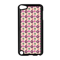 Cute Floral Pattern Apple Ipod Touch 5 Case (black)