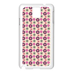 Cute Floral Pattern Samsung Galaxy Note 3 N9005 Case (white)