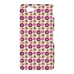 Cute Floral Pattern Sony Xperia Z1 Compact Hardshell Case