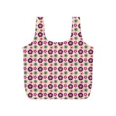 Cute Floral Pattern Reusable Bag (S)