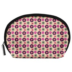 Cute Floral Pattern Accessory Pouch (Large)