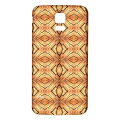 Faux Animal Print Pattern Samsung Galaxy S5 Back Case (White)