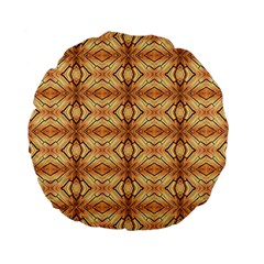 Faux Animal Print Pattern 15  Premium Flano Round Cushion