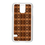 Faux Animal Print Pattern Samsung Galaxy S5 Case (White) Front