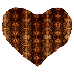 Faux Animal Print Pattern 19  Premium Flano Heart Shape Cushion