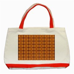 Faux Animal Print Pattern Classic Tote Bag (Red)