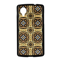 Faux Animal Print Pattern Google Nexus 5 Case (Black)