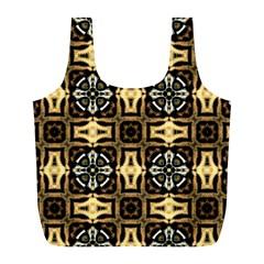 Faux Animal Print Pattern Reusable Bag (L)