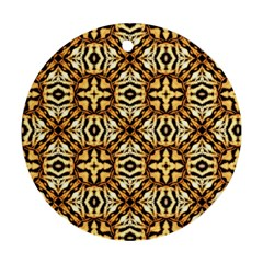 Faux Animal Print Pattern Round Ornament