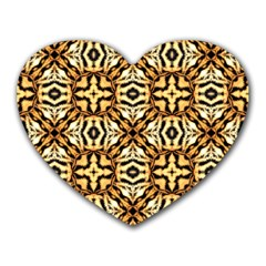 Faux Animal Print Pattern Mouse Pad (heart)