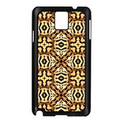 Faux Animal Print Pattern Samsung Galaxy Note 3 N9005 Case (Black)