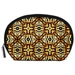 Faux Animal Print Pattern Accessory Pouch (Large) Front