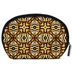 Faux Animal Print Pattern Accessory Pouch (Large) Back