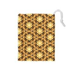 Faux Animal Print Pattern Drawstring Pouch (Medium)