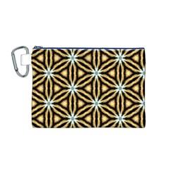 Faux Animal Print Pattern Canvas Cosmetic Bag (medium)