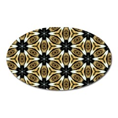 Faux Animal Print Pattern Magnet (oval)