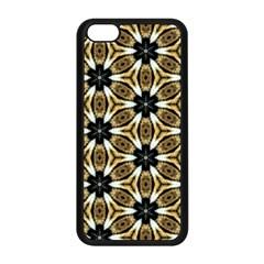Faux Animal Print Pattern Apple iPhone 5C Seamless Case (Black)