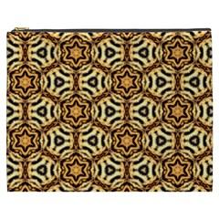 Faux Animal Print Pattern Cosmetic Bag (XXXL)