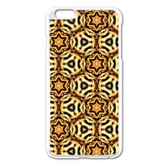 Faux Animal Print Pattern Apple iPhone 6 Plus Enamel White Case