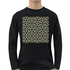 Faux Animal Print Pattern Men s Long Sleeve T Shirt (dark Colored)