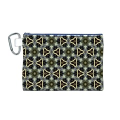 Faux Animal Print Pattern Canvas Cosmetic Bag (medium)
