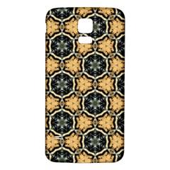 Faux Animal Print Pattern Samsung Galaxy S5 Back Case (White)